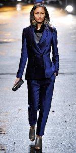 navy chenille suit - phillip lim