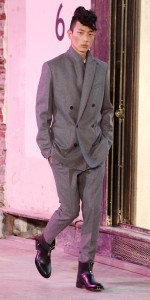 phillip lim - grey felt suit