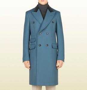 wool equestrian coat - gucci