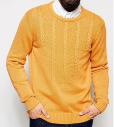 ASOS Cable Jumper in Cotton