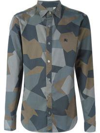 BURBERRY BRIT Geometric Pattern Shirt