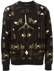 MSGM Geometric Print Sweater