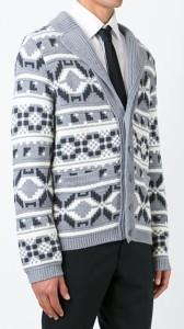 THOM BROWNE Intarsia Knit Cardigan