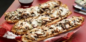 Mushroom Lovers' French Bread Pizzas